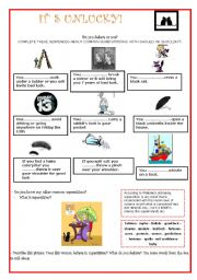 English Worksheet: Friday 13th ....SUPERSTITIONS!!