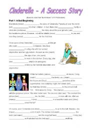 English Worksheet: Cinderella (Passive Practice)