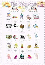 The Baby Room - Pictionary - ESL Worksheet By Lolelozano