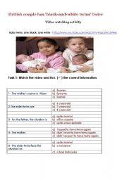 English Worksheet: Ebony and ivory (1)        2 pages