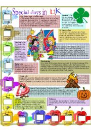 English Worksheets: Special  days in UK