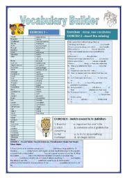 English Worksheet: Vocabulary builder (Addictions) 4 exercises KEY included