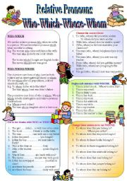 Relative Pronouns - When to use