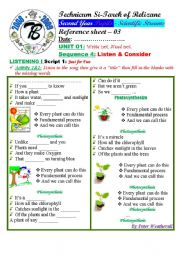 waste not want not photosynthesis author bouabdellah esl worksheet by goodnesses. Black Bedroom Furniture Sets. Home Design Ideas