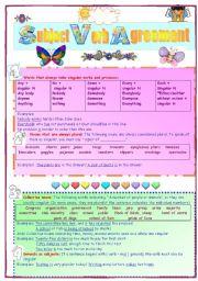 English Worksheet: subject verb agreement 2