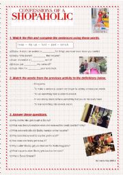 English Worksheet: Confessions of a Shopaholic - Video Activity