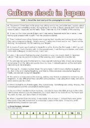 english teaching worksheets culture shock. Black Bedroom Furniture Sets. Home Design Ideas
