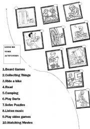 match the leisure time activities esl worksheet by ilona. Black Bedroom Furniture Sets. Home Design Ideas