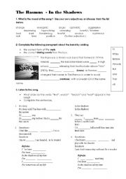 English Worksheet: Present Perfect Continuous Song, Discussion Peer Pressure Gang Culture