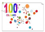 English Worksheet: 100 ESL GAMES