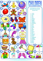 English Worksheet: CHILDREN OBJECTS MATCHING