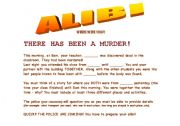 Alibi Gamesheet