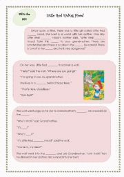 English Worksheets: The Big Bad Wolf