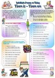 English Worksheets: Indefinite Person or Thing - The Use of