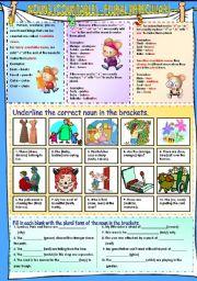 English Worksheet: Nouns (countable) - Plural (Irregular)