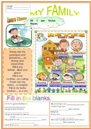 short essay for kids on my family My family : (brief essay) we live in a town that is much far away from my school my school is located in a city and it is very reputed in our locality.