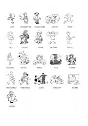English worksheet: Family and Some Professions