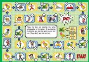 English Worksheet: DESCRIBING ACTIONS - BOARD GAME