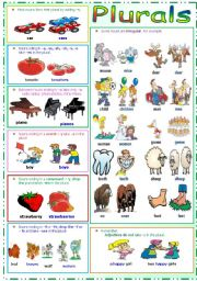 English Worksheet: Plurals