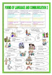 English Worksheets: FORMS OF LANGUAGE AND COMMUNICATION