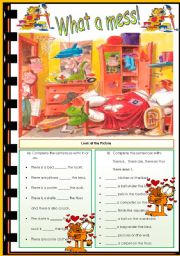 English Worksheets: What a mess!
