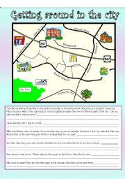 english worksheets describing places worksheets page 4. Black Bedroom Furniture Sets. Home Design Ideas