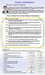 English Worksheets: READING COMPREHENSION (TWO PAGES)