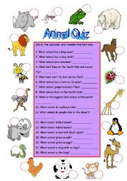 animal quiz esl worksheet by hoatth. Black Bedroom Furniture Sets. Home Design Ideas