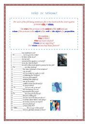interrogative pronouns - ESL worksheet by Borisje