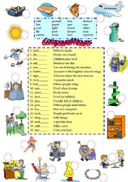 English Worksheets: compound nouns 2