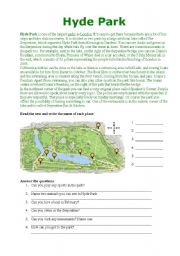 English Worksheet: Hyde Park