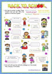 English Worksheet: Personal identification -  Elementary students