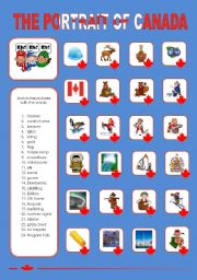 English Worksheet: THE PORTRAIT OF CANADA (1)
