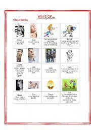 English Worksheets: Ways of Looking