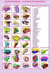 English Worksheets: MODERN ACCESORIES MATCHING