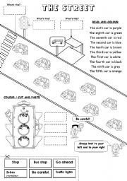 English Worksheet: The street (ordinal numbers)