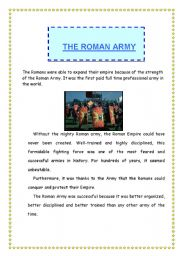 English Worksheets: The Roman Army