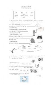English worksheet: AR - ER - IR -OR -UR