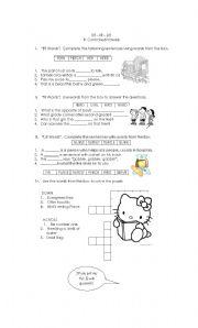 English worksheet: ER IR UR