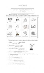 English worksheet: ER -IR -UR