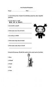 English Worksheets: Oral English