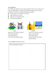 English Worksheets: Oral activity about travelling