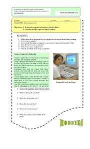 English Worksheets: Talking about things you like to do