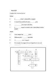 English Worksheets: Magnet ( Activity 5 )
