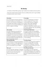 English Worksheet: The Marriage