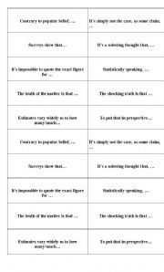 English worksheet: Cards for speaking about statistics in business lessons