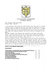 English Worksheets: Police Reports