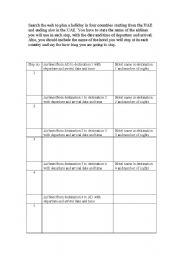 English Worksheets: My (next/last) Holiday