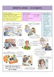 English Worksheets: REPORTED SPEECH - STATEMENTS
