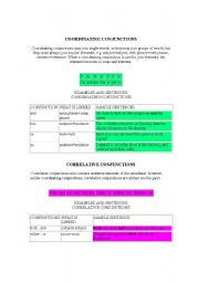 English Worksheets: Types of Conjunctions
